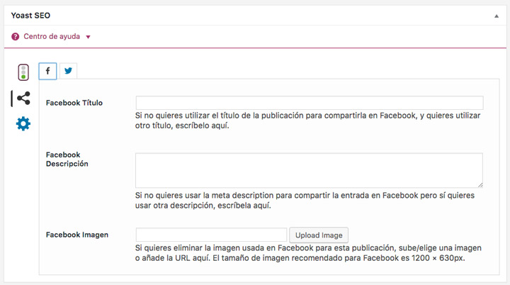 Yoast Seo Meta Box Facebook
