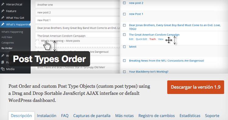 Post Types Order