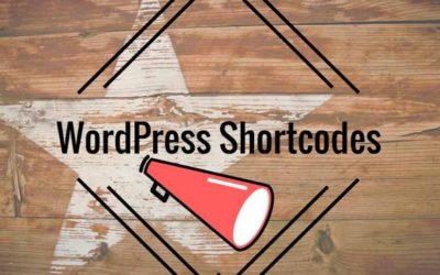 WordPress [shortcodes] herramientas para todos los días