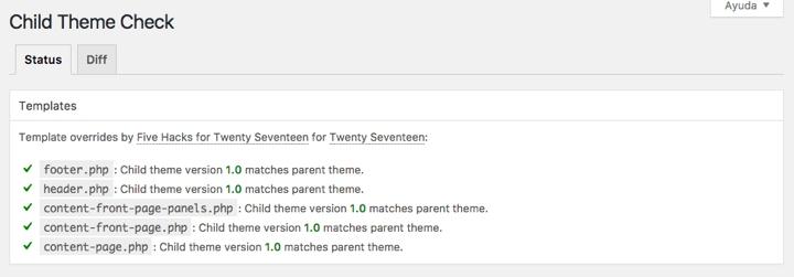 Child Theme Check Plugin Check Result