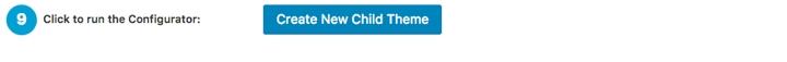 Child Theme Configurator Plugin Step 9