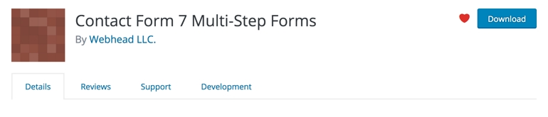 Contact Form 7 Multi Step Forms