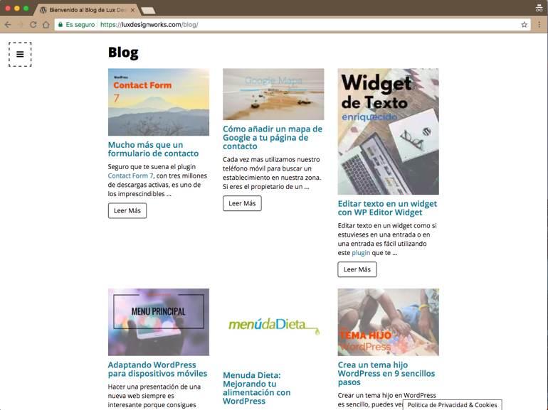 Content Views Lux Blog