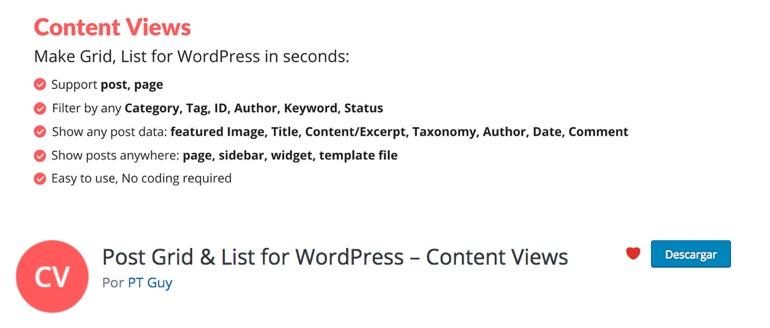 Content Views WordPress Plugin