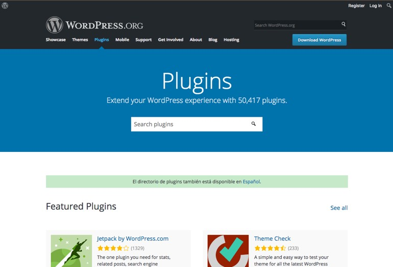 Directorio Plugins WordPress