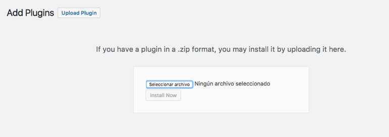 Nuevo Plugin WordPress Zip