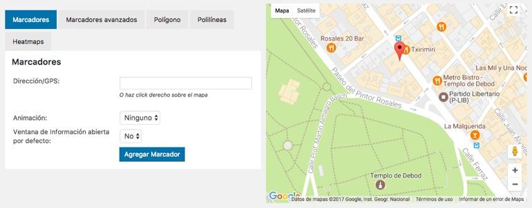 Wp Google Maps Marcadores