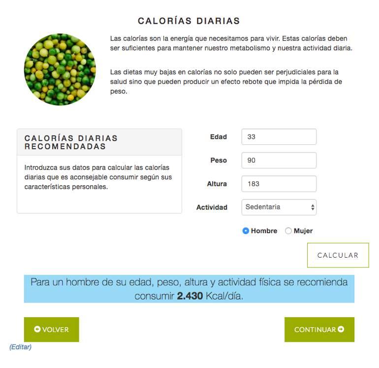 Menuda Dieta Calorias Recomendadas