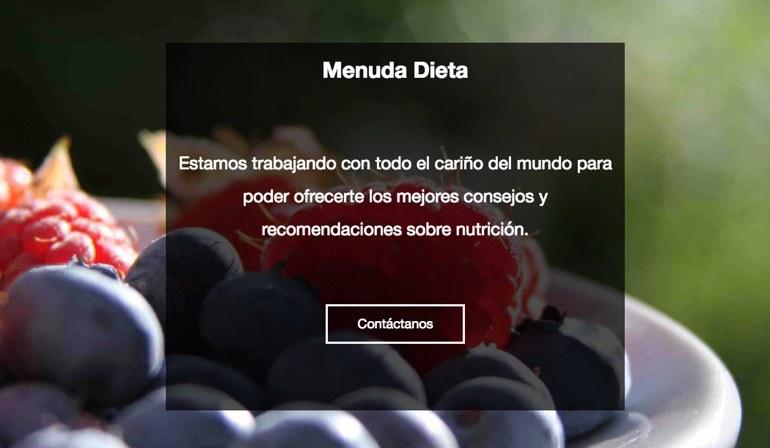 Menuda Dieta Landing Page