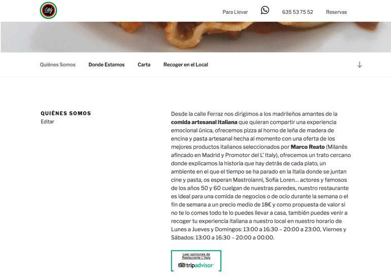 Restaurante Litaly Quienes Somos