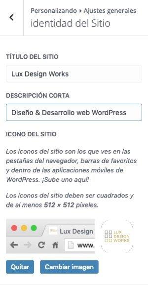 Logotipo Web WordPress Identidad Del Sitio